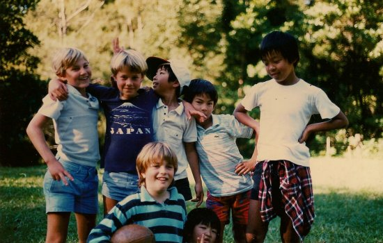 Author's brother's 9th birthday party, 1988.